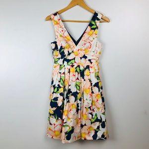 J.Crew Floral A-Line Dress Sleeveless 00